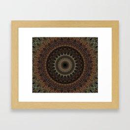 Mandala in brown tones Framed Art Print