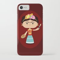frida kahlo iPhone & iPod Cases featuring Frida Kahlo by Sombras Blancas Art & Design