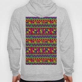 Latin American Pattern. Zigzag Squares Triangle Patterns. Colourful Pattern. Latin America. Funky Hoody