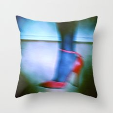 Red shoe Throw Pillow