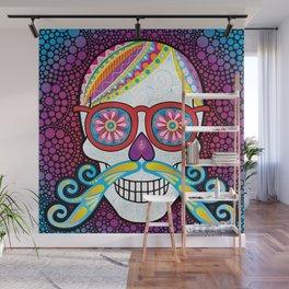 Sugar Skull (Mustachio) Wall Mural