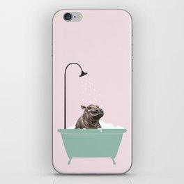 Hippo Enjoying Bubble Bath iPhone Skin