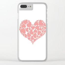 A Heart Full Of Love Pink Valentine Hearts Within A Heart Clear iPhone Case