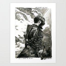 was it always like this Art Print
