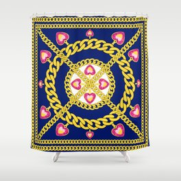 Gold Chains and Jewelry Shower Curtain