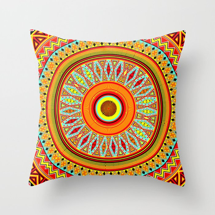 Mandala Aztec Pattern 5 Throw Pillow