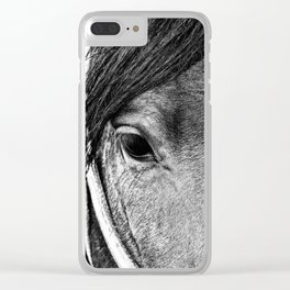 Soulful Expression Clear iPhone Case