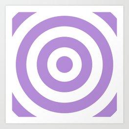 Target (Lavender & White Pattern) Art Print