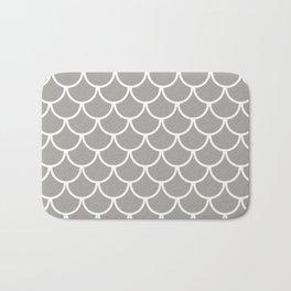 Grey Fish Scales Pattern Bath Mat