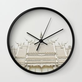 White temple, Thailand Wall Clock