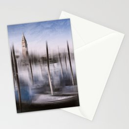 Digital-Art VENICE Grand Canal and St Mark's Campanile Stationery Cards