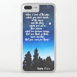 The work of His hands Clear iPhone Case