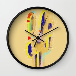 cactus colorful 7 Wall Clock