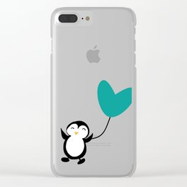 Penguin in love White Clear iPhone Case