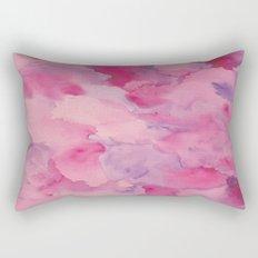 Beth Rose Watercolor Rectangular Pillow
