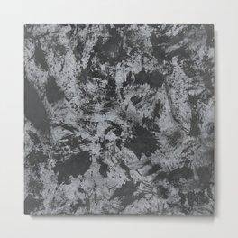 Black Ink on Grey/Gray Background Metal Print