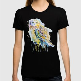 Short Eared Owl Watercolor painting T-shirt