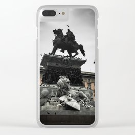 The Lion, the Knight, and the Boy Clear iPhone Case