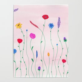 Flowers Pattern lll Poster