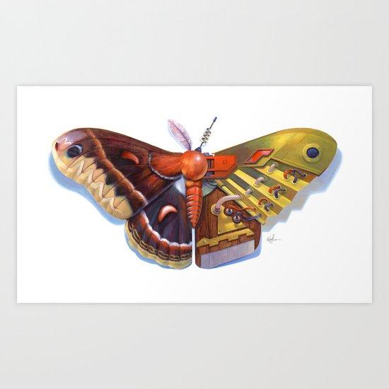 Cecropia Bot Art Print