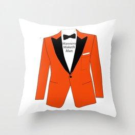 Manners maketh man Throw Pillow