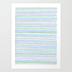 Blue Green Art Print