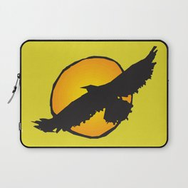 Sun and Bird Flying Yellow Laptop Sleeve