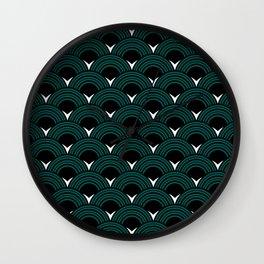 Art Deco Shell Print Wall Clock