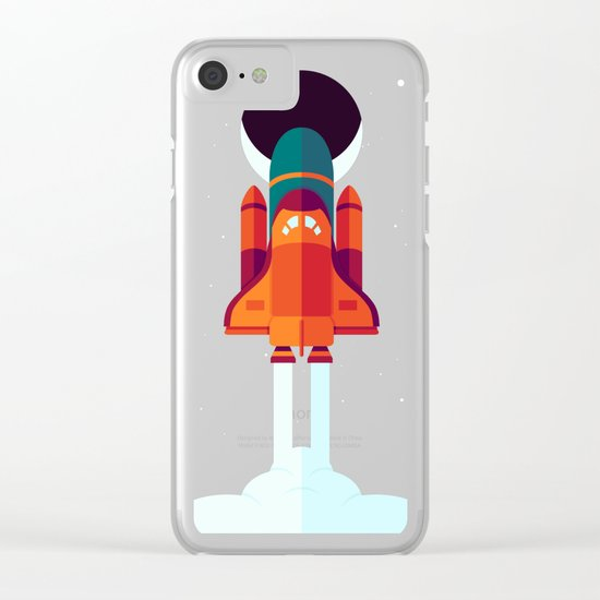 Into Spaaaace Clear iPhone Case