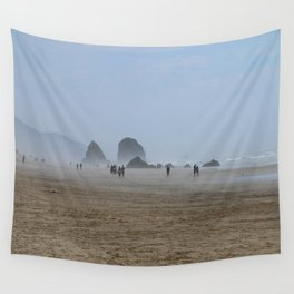 Misty Morning At Cannon Beach Wall Tapestry
