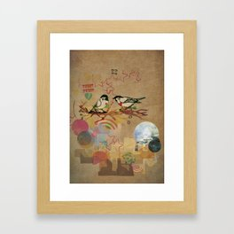 Two Little Birds Framed Art Print