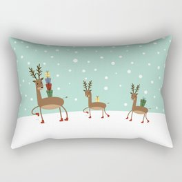 Christmas gifts from the reindeer #society6 #homedecor Rectangular Pillow