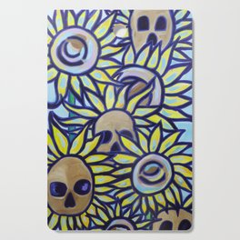 S is for Sunflowers and Skulls Cutting Board