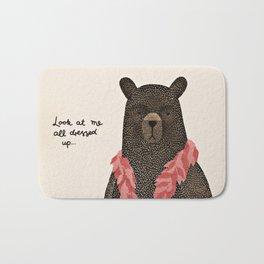 Bear Dress Up Boa Bath Mat