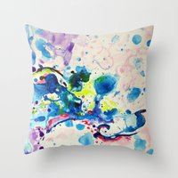 fairies Throw Pillows featuring Fairies by Pajaritaflora