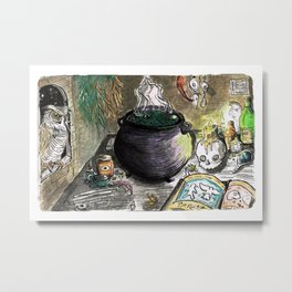 Witch's Workshop Metal Print