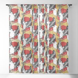 Year of the Rat 2020 Sheer Curtain