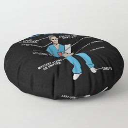 Funny Anatomy of a Dental Assistant Floor Pillow
