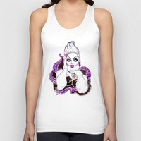 ursula Tank Tops featuring Borderline Ursula  by dannydax