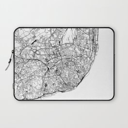 Lisbon White Map Laptop Sleeve