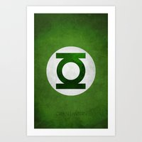 green lantern Art Prints featuring Green Lantern by whosyourdeddy