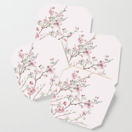 Apple Blossom Pink #society6 #buyart Coaster