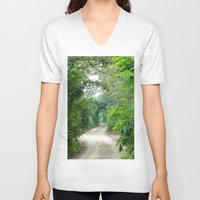 cape cod V-neck T-shirts featuring Lover's Arch, Cape Cod by JezRebelle