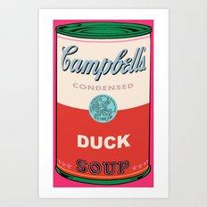 Duck Soup Pop Art Art Print