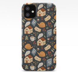 Cozy Cottage Pattern iPhone Case