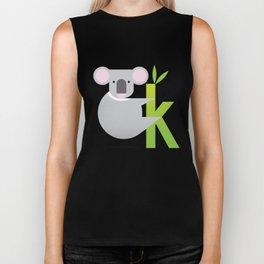 K for Koala Biker Tank