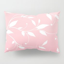 FLOWERY VINES | pink white Pillow Sham