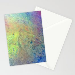 Copper Mixed Media Painting On Canvas Under UV Spectrum Lightbulb Stationery Cards