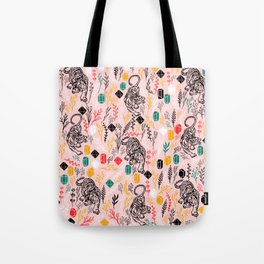 Tigers and Crystal Gems Tote Bag