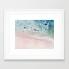 Ocean Pink Blush Framed Art Print